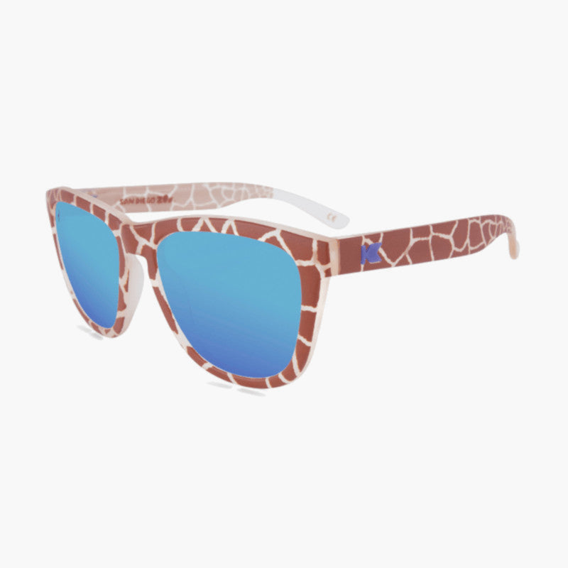 Knockaround Reticulated Giraffe Limited Edition Sunglasses--top left view