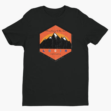 Locin Surf Company Mountains to Sea Tee
