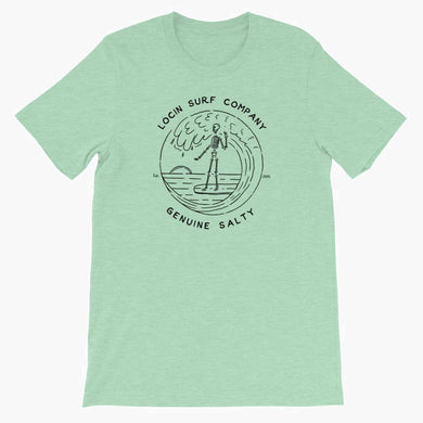 Locin Surf Company Genuine Salty Tee