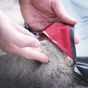 Matador Pocket Blanket 2.0--on beach sand