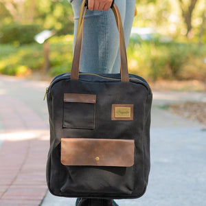 Black Turlee Tote--in use