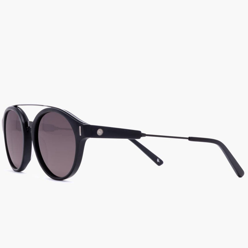 Wilder Eco Matte Black/Grey Polarized Lens--left side