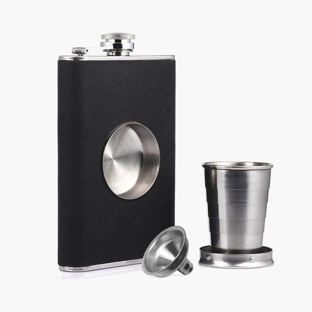 The Shot Flask, collapsible shot glass, and funnel