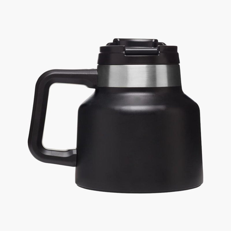 stanley tough to tip admiral's mug matte black--back view