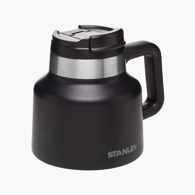 stanley tough to tip admiral's mug matte black--front angle view