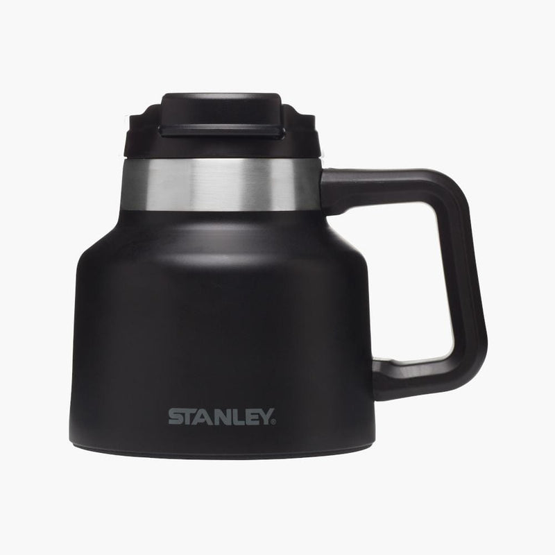 stanley tough to tip admiral's mug matte black--front view