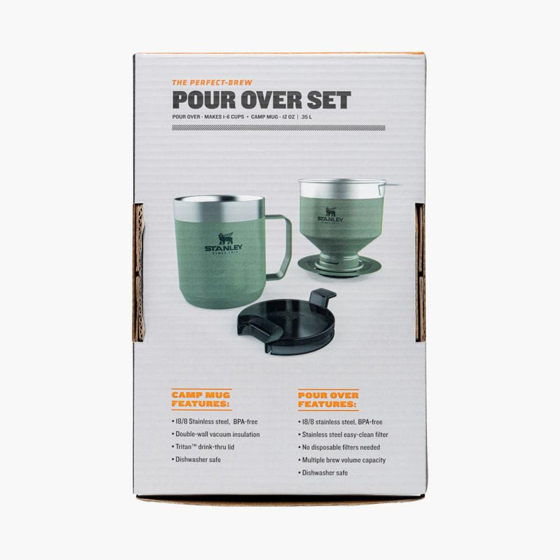 stanley classic perfect brew pour over set--back box view