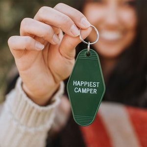 Retro Motel Key Tags--Happiest Camper