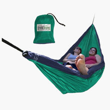 Load image into Gallery viewer, Teal & Navy Double Hammock