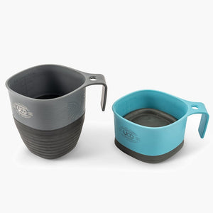 UCO Camp Cup 2 Pack--Venture/Classic Blue--Collapses to half the height