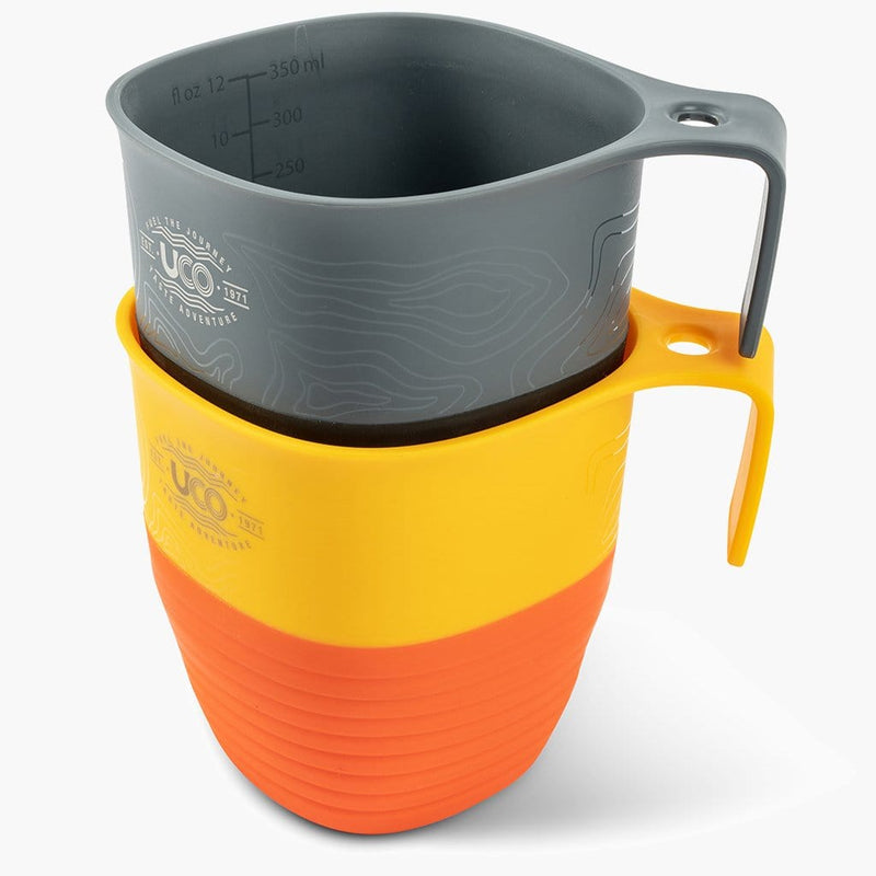 UCO Camp Cup 2 Pack--Venture/Retro Sunset--stackable