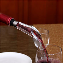 Load image into Gallery viewer, Wine Aerating Pourer and Decanter w/ Base--in use