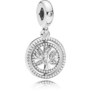 925 Sterling Silver Family is a Circle of Love Pandora Compatible Dangle Charm