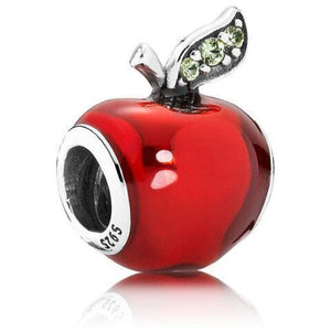 925 Sterling Silver Red Apple Pandora Compatible Charm