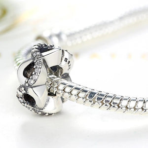 925 Sterling Silver CZ Infinity Love Pandora Compatible Spacer