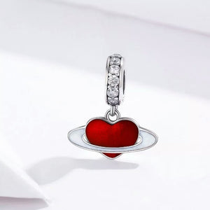 925 Sterling silver LOVE PLANET Charm