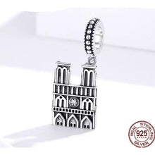 Load image into Gallery viewer, 925 Sterling Silver Notre Dame Cathedral Pandora Compatible Dangle Charm