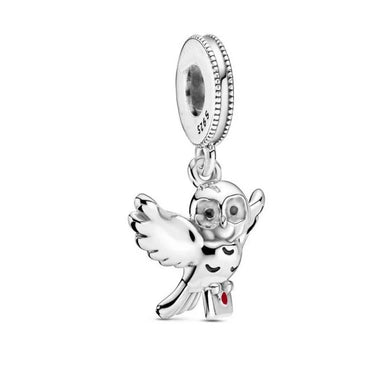 925 Sterling Silver Harry Potter Owl Pandora Compatible Charm