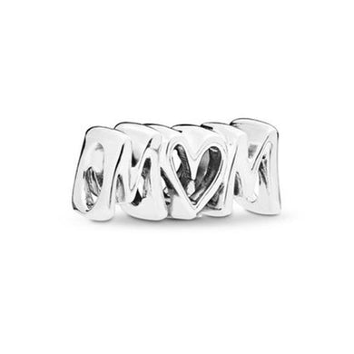 925 Sterling Silver MOM Pandora Compatible Bead Charm