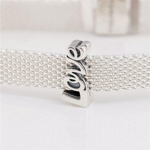 925 Sterling Silver LOVE Reflexion Pandora Compatible Charm