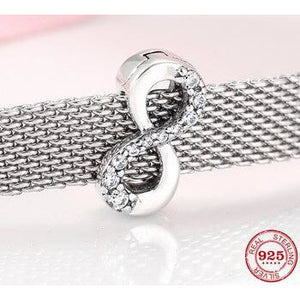 925 Sterling Silver Infinity Reflexion Pandora Compatible Charm