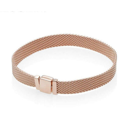Reflexions Rose Gold Plated Mesh Bracelet