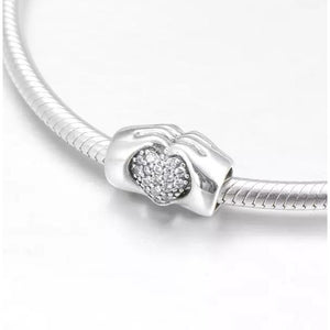 925 Sterling Silver Hands Full of Love Pandora Compatible Charm