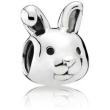 Load image into Gallery viewer, 925 Sterling Silver Rabbit Face Pandora Compatible Bead Charm