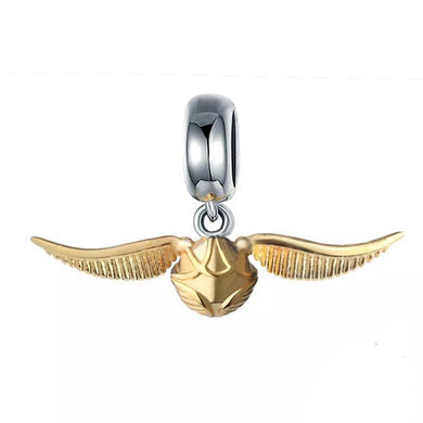 925 Sterling Silver Classic Golden Snitch Pandora Compatible Dangle Charm
