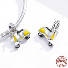 Load image into Gallery viewer, 925 Sterling Silver Yellow Scooter Pandora Compatible Dangle Charm