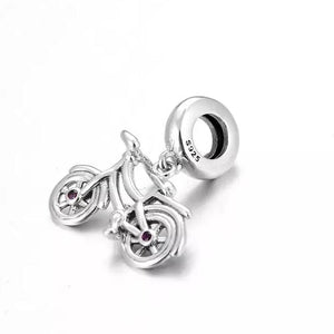 925 Sterling Silver Bicycle Pandora Compatible Dangle Charm