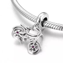 Load image into Gallery viewer, 925 Sterling Silver Bicycle Pandora Compatible Dangle Charm