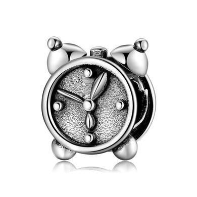 925 Sterling Silver Alarm Clock Pandora Compatible Charm