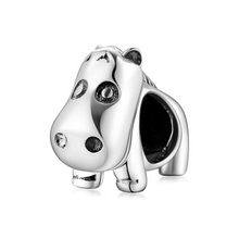 Load image into Gallery viewer, 925 Sterling Silver Hippo Pandora Compatible Bead Charm