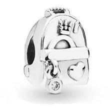 Load image into Gallery viewer, 925 Sterling Silver Travel Backpack Pandora Compatible Charm