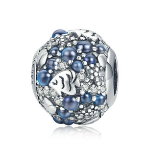 925 Sterling Silver Underwater World Fish Pandora Compatible Charm