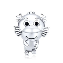 Load image into Gallery viewer, 925 Sterling Silver Cute Baby Dragon Pandora Compatible Bead Charm