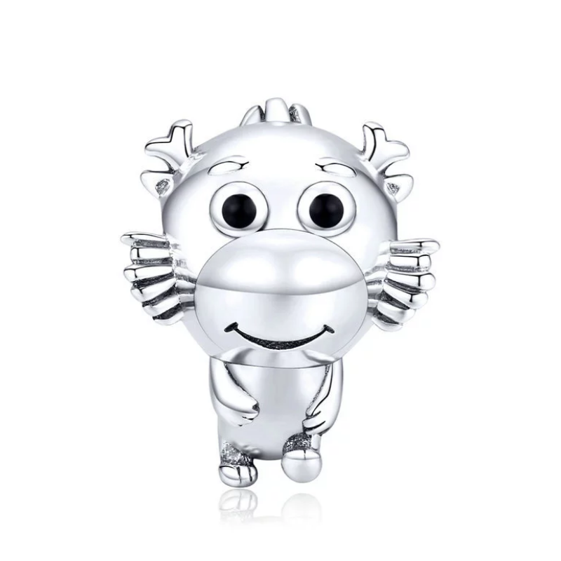 925 Sterling Silver Cute Baby Dragon Pandora Compatible Bead Charm