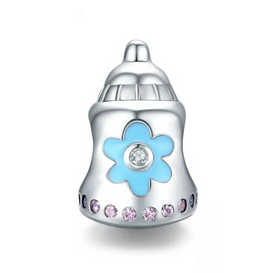 925 Sterling Silver Baby Bottle Pandora Compatible Charm