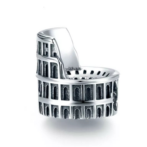 925 Sterling Silver Colosseum Pandora Compatible Bead Charm