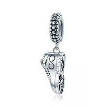 Load image into Gallery viewer, 925 Sterling Silver Sneaker Pandora Compatible Dangle Charm