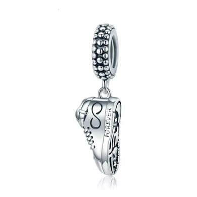 925 Sterling Silver Sneaker Pandora Compatible Dangle Charm
