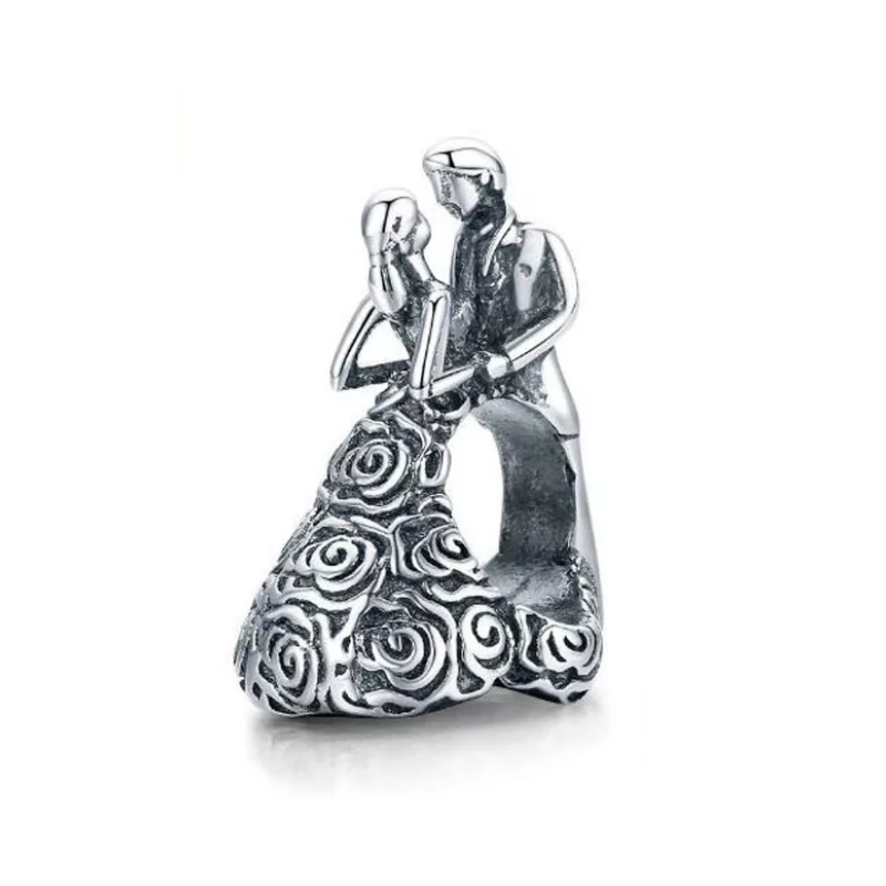 925 Sterling Silver Husband And Wife Pandora Compatible Bead Charm Be Fabulous Jewellery