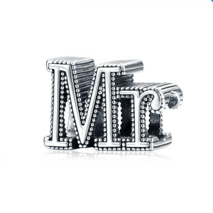 925 Sterling Silver Mr and Mrs Pandora Compatible Charm