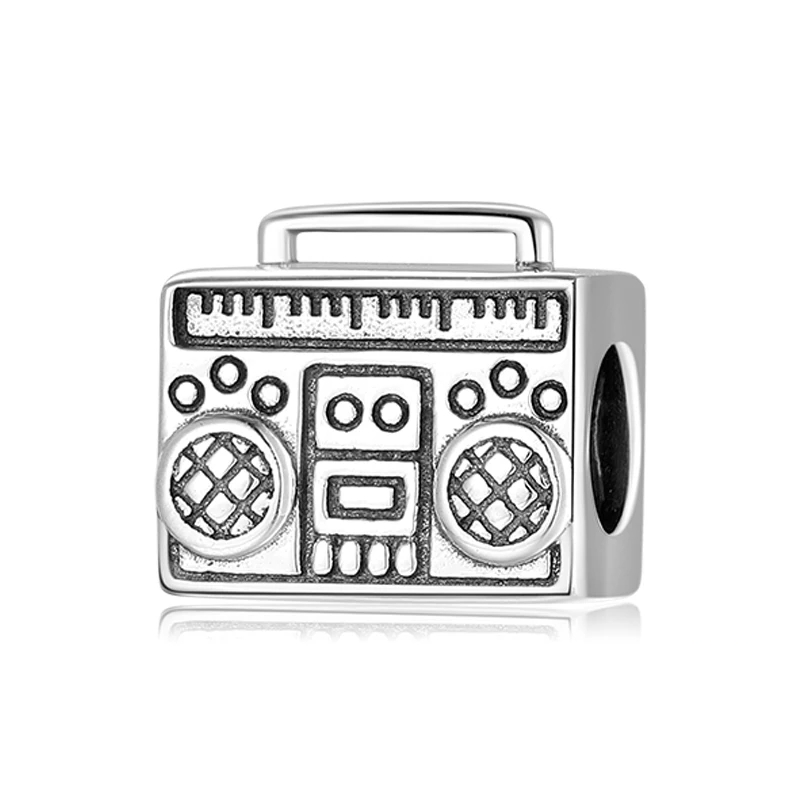 925 Sterling Silver Radio Pandora Compatible Bead Charm
