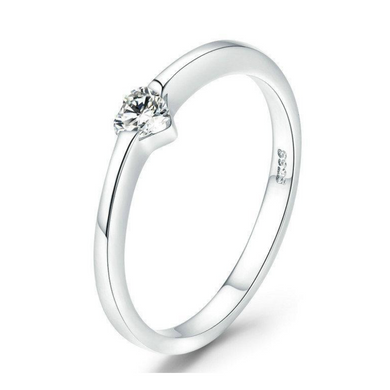 925 Sterling Silver Luminous Heart Ring