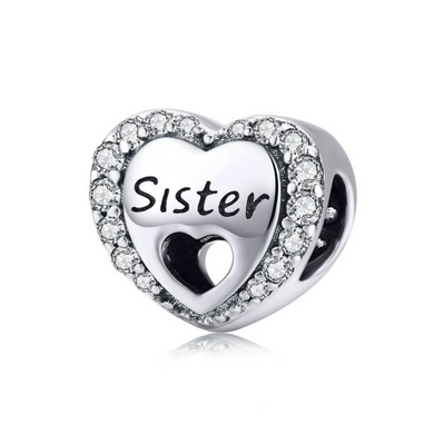 925 Sterling Silver Sister Pandora Compatible Dangle Charm