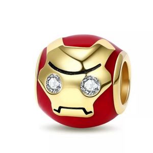 925 Sterling Silver Iron Man Pandora Compatible Bead Charm