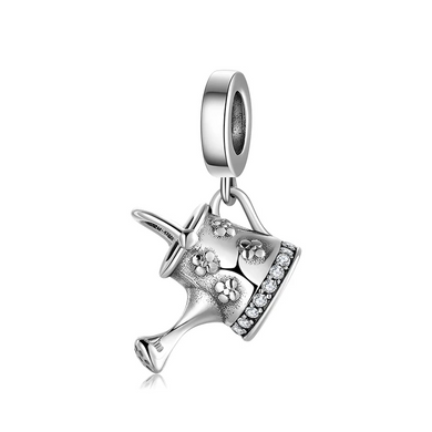 925 Sterling Silver Watering Can Pandora Compatible Dangle Charm