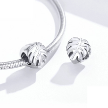 Load image into Gallery viewer, 925 Sterling Silver Plain Leave Pandora Compatible Bead Charm
